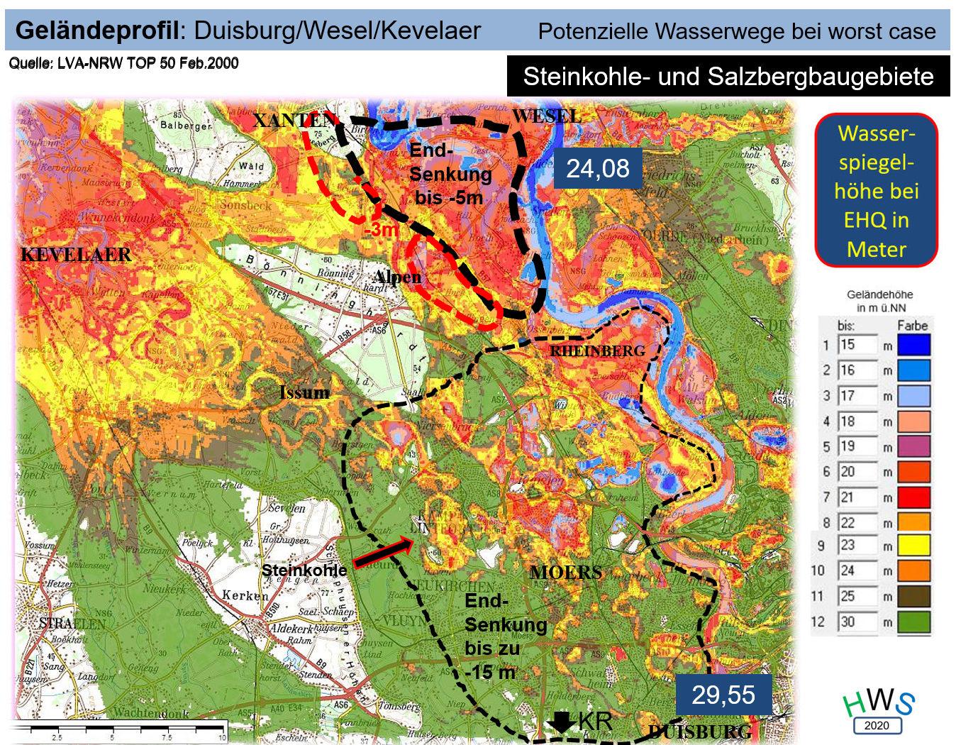 Topographische Karte Zustand 2000 (Geheimhaltung) Bergbaugebiete